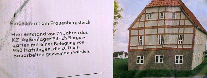 Transparentaktion am ehemaligen Außenlager Ellrich-Bürgergart
